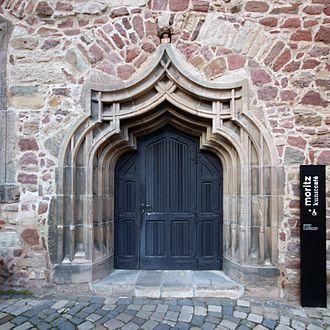 Moritzburg (Halle) - Moritzburg, door of the north wing