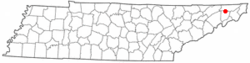 Location of Gray, Tennessee