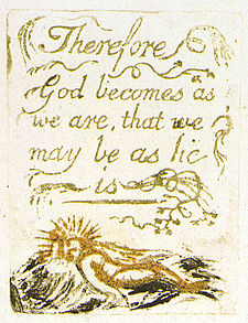 William Blake's thoughts on there being no natural religion.?