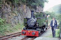 TR 0-4-2T No 7 'Tom Rolt' (ex Andrew Barclay 2263) Nant Gwernol, TR, N Wales 17.8.1992 (10196766043).jpg