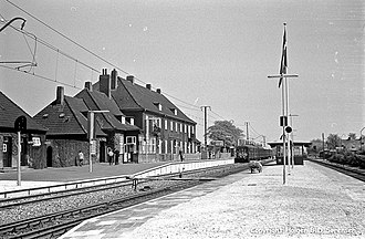 Taastrup station - Taastrup Station with the now demolished station building