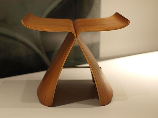 "Tabouret design ""Butterfly Stool"" de Sori Yanagi, 1954"