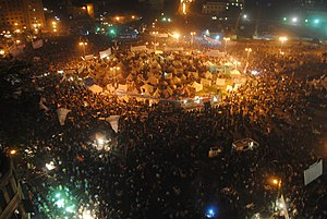 2012–13 Egyptian protests - Hundreds of thousands of people protesting in Tahrir Square on 30 November 2012