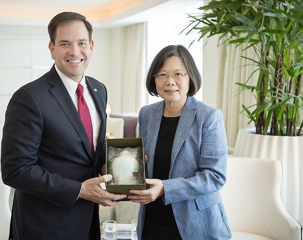 Taiwanese President Tsai Ing-wen meet with U.S. Senator Marco Rubio in Miami, Florida in June 2016