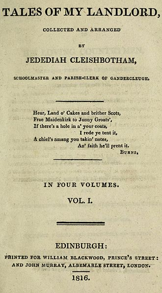 Old Mortality - First edition title page