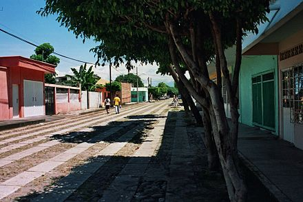 Street in a residential area of the city - Tapachula
