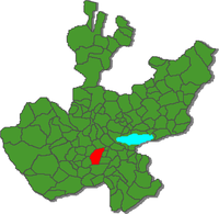 Location o the municipality in Jalisco