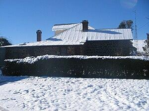 Taralga - Beautiful basalt house after snowfall