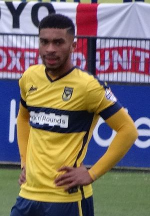 Tareiq Holmes-Dennis - Holmes-Dennis playing for Oxford United in 2014