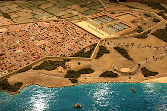Tarraco - Model of Tarraco in imperial times, located in the remains of the provincial forum