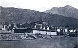 Photo of Tashichödzong in 1921