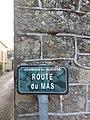 Tauriers - Plaque route du Mas.jpg