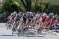 Team Sky leads the field on the final laps of Stage 1 in Sacramento (34957927666).jpg