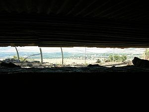 Tel Faher - Bunker with splendid view down to the fields of the kibbutzim