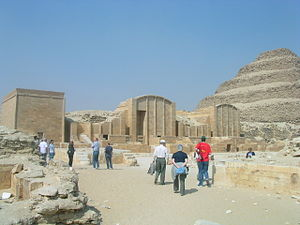 Pyramid of Djoser - Temples of the festival complex.
