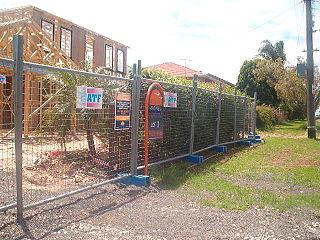 Temporary fencing