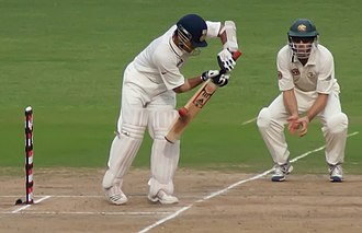 Simon Katich - Katich fielding at short leg in a Test match against India in October 2010.