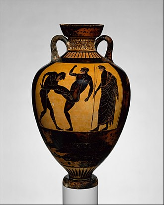 Sport in ancient Greek art - Panthenaic Amphora By Kleophrades Painter