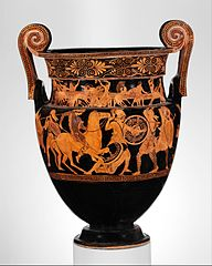 Volute-krater by the Painter of the Woolly Satyrs at the MET collection