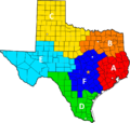 Texas Ranger Division companies map.png