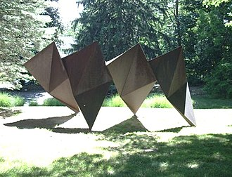 Charles Ginnever - Texas Triangles, 1983. Image from deCordova Sculpture Park in 2007.