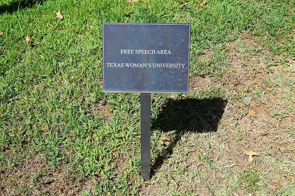 Texas Woman's University September 2015 63 (free speech area)