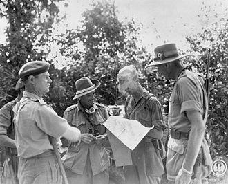 Francis Festing - Major General Festing and Major General Collin Jardine in North Burma, December 1944.