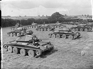 28th Armoured Brigade (United Kingdom) - Covenanter tanks of the Fife and Forfar Yeomanry, 9th Armoured Division, on parade at Guisborough in Yorkshire, 19 August 1941.