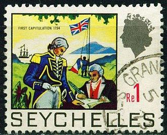 History of Seychelles - 1969 stamp commemorating the British occupation of 1794