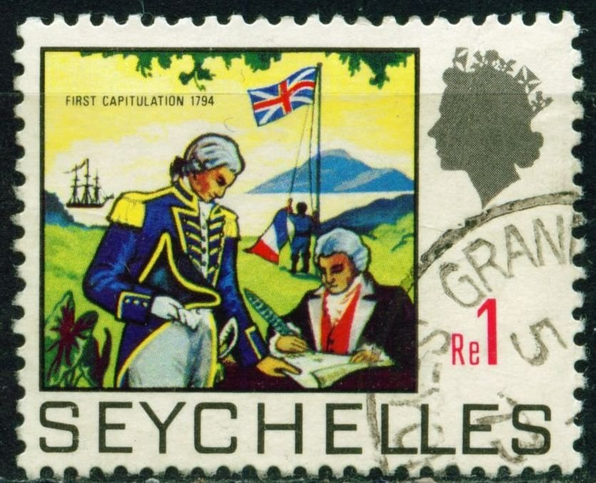 The British conquer the Seychelles - 1794, 1 Rupee