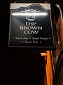 The Brown Cow, Ratcliffe Gate, Mansfield (Pub Sign) (2).jpg