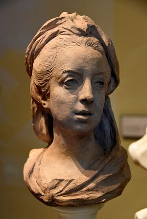 Jean-Baptiste Lemoyne - The Comtesse de Feuquieres by Jean-Baptiste Lemoyne. Terracotta, circa 1738 CE. From Paris, France. The Victoria and Albert Museum, London
