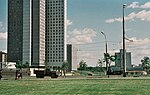 The First Tall Buildings around Udaltsovskiye Prudy in Moscow May 1981.jpg