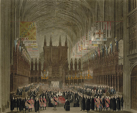 Princess Charlotte's funeral The Funeral Ceremony of Her Royal Highness the Princess Charlotte of Wales and Saxe Coburg by James Stephanoff.jpg