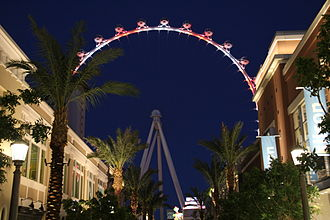 High Roller (Ferris wheel) - Image: The High Roller View From The Linq 2