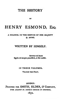 <i>The History of Henry Esmond</i> book by William Makepeace Thackeray