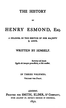The History of Henry Esmond 1st ed.jpg