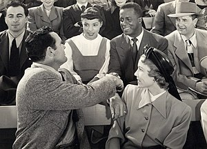 Joel Fluellen - Ruby Dee and Joel Fluellen (center) in The Jackie Robinson Story (1950)