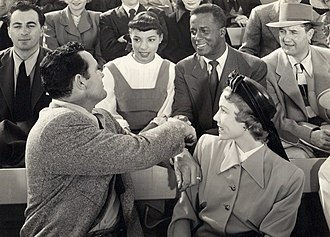 Ruby Dee - Ruby Dee and Joel Fluellen (center) in The Jackie Robinson Story (1950)