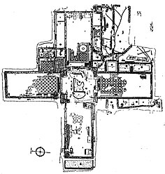 Floor plan of the martyrion of Saint Babylas, in Antioch