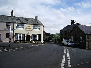 Ireby, Cumbria - Image: The Lion and crossroads, Ireby geograph.org.uk 475534