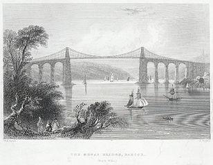 The Menai Bridge, Bangor: north Wales