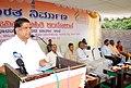 The Minister of Rural Development and Panchayati Raj, Karnataka, Shri Jagadish Shettar delivering the valedictory address, at the Public Information Campaign on Bharat Nirman, organised by the PIB, Bangalore, at Kanakapura.jpg