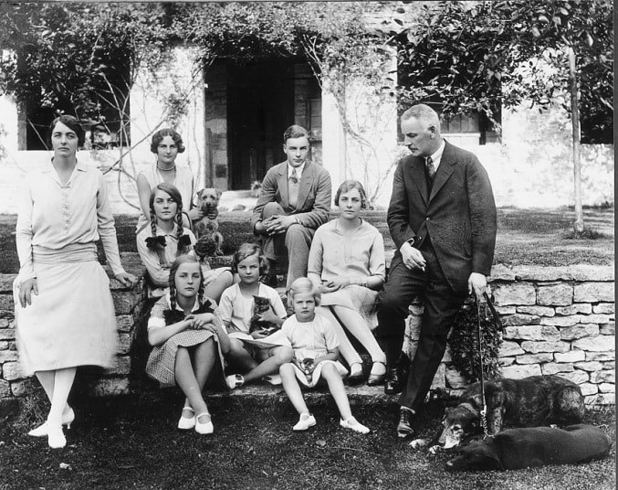 The Mitford family in 1928
