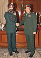 The Nepal Army Chief, Gen. Gaurav S.J.B. Rana meeting the Chief of Army Staff, General Bikram Singh, in New Delhi on January 07, 2013.jpg