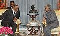 The President of Botswana, His Excellency Festus Mogae calls on the President, Dr. A.P.J. Abdul Kalam,in New Delhi on December 08, 2006.jpg