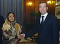 The President of Russia, Mr. Dmitry A. Medvedev meeting the President, Smt. Pratibha Devisingh Patil, in New Delhi on December 05, 2008.jpg