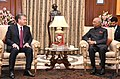 The President of the Republic of Uzbekistan, Mr. Shavkat Mirziyoyev meeting the President, Shri Ram Nath Kovind, at Rashtrapati Bhavan, in New Delhi on October 01, 2018.JPG