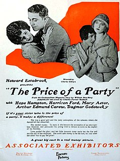 <i>The Price of a Party</i> 1924 film by Charles Giblyn
