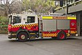 The Rocks (003) NSWFR Scania P310 Class 4 pumper at The Rocks Fire Station.jpg